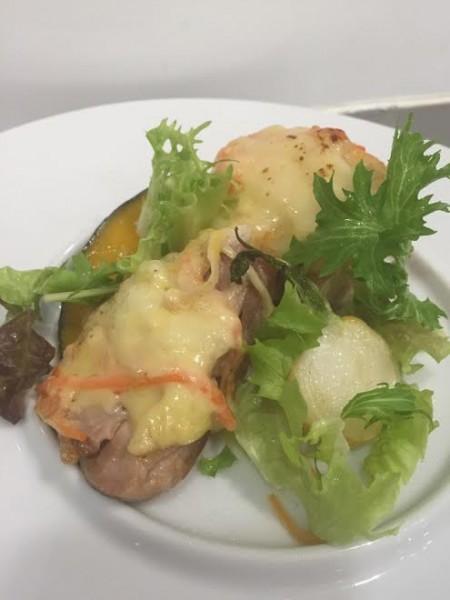 2016.1鶏モモ肉の白みそマヨネーズ焼き サラダ仕立て