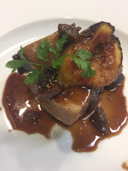 豚バラ肉といちじくの赤ワイン煮込み いちぢくキャラメリゼZoe